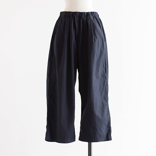 Cotton Typewriter Tuck Wide Pants