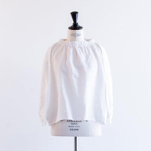 Linen Gatherneck Pullover