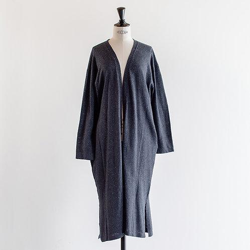 Cotton Linen Knit Long Cardigan
