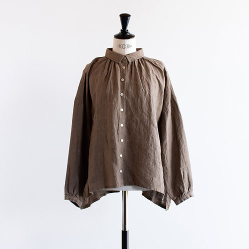 Linen Chambray Gather Shirts