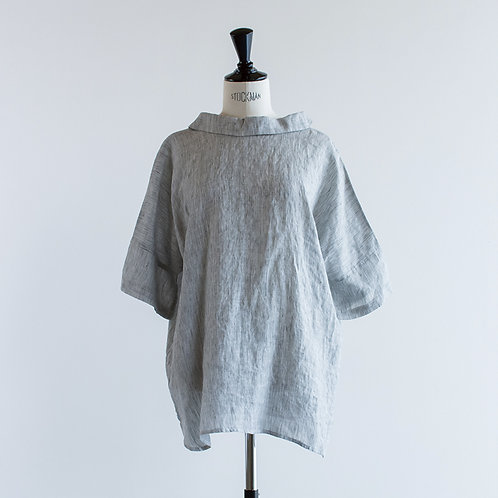 Linen Collared 2way Blouse