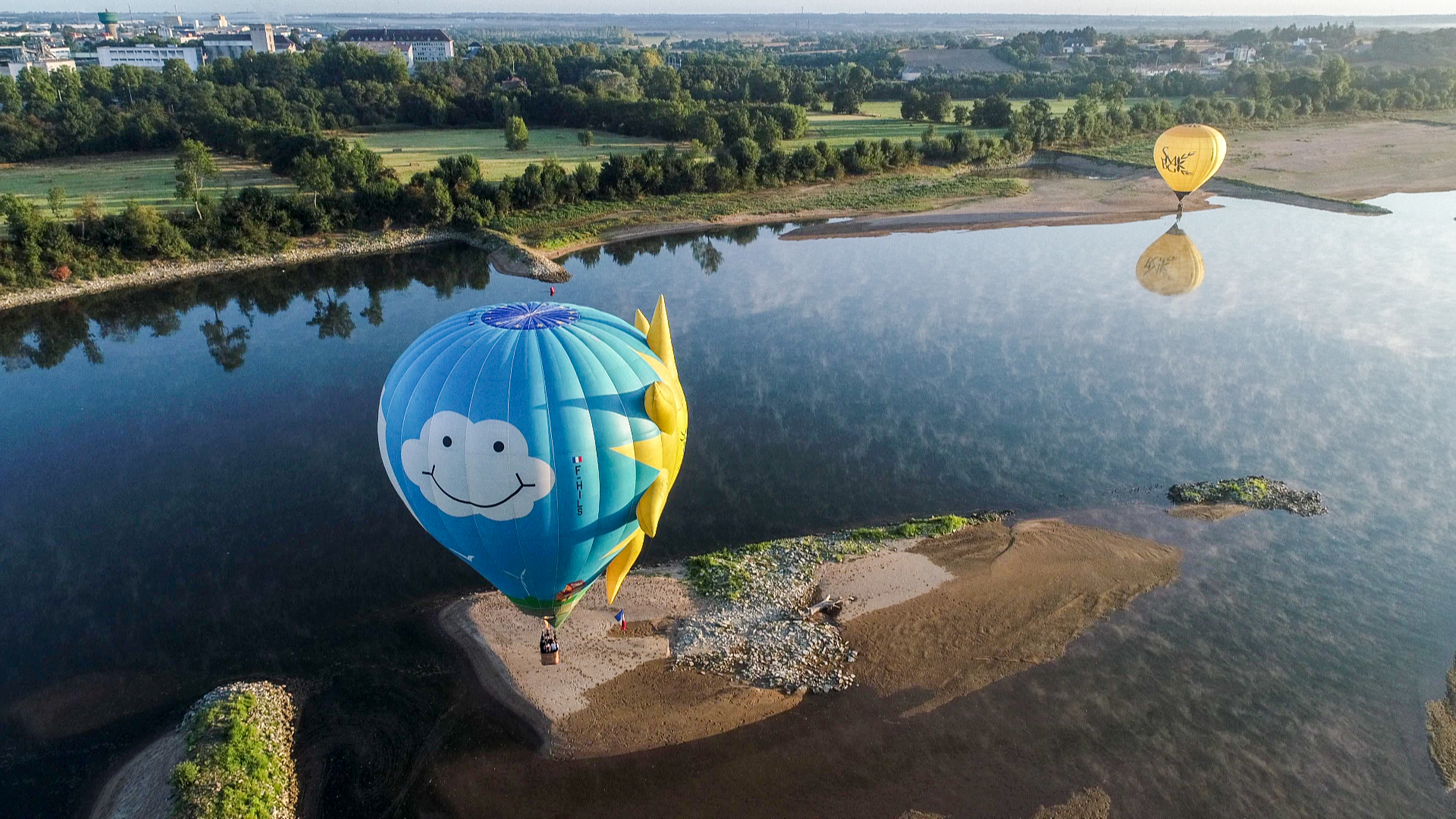 Ciel de Loire - La Loire à Ancenis