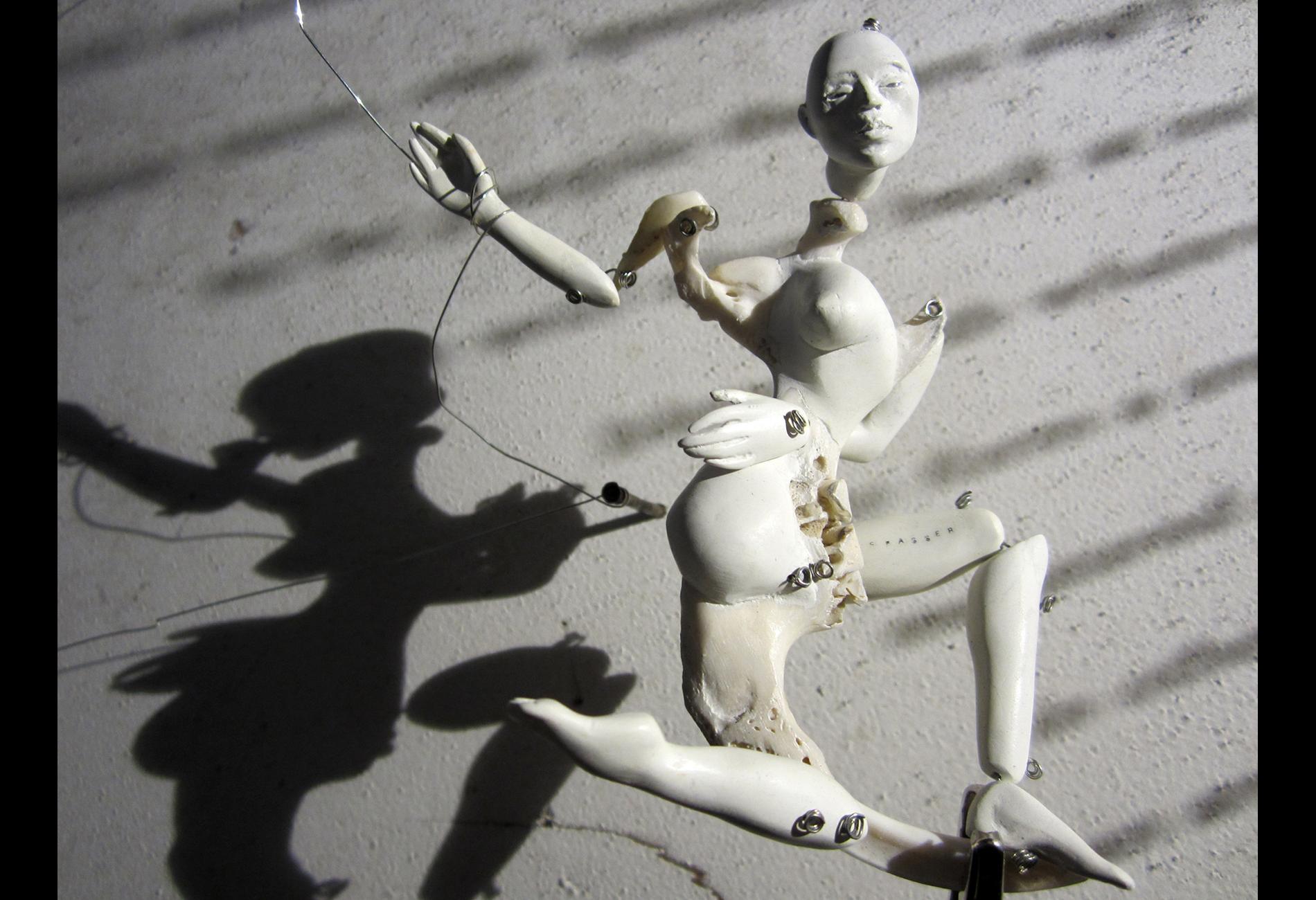 AIR TRANCE, bone doll detail