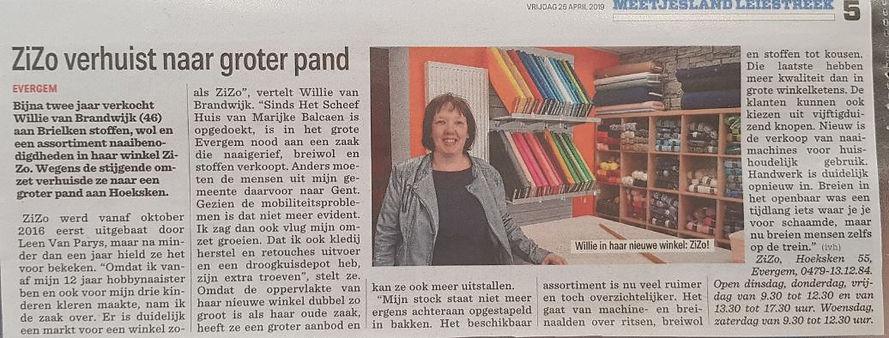 Knipsel nieuwsblad 2642019.JPG