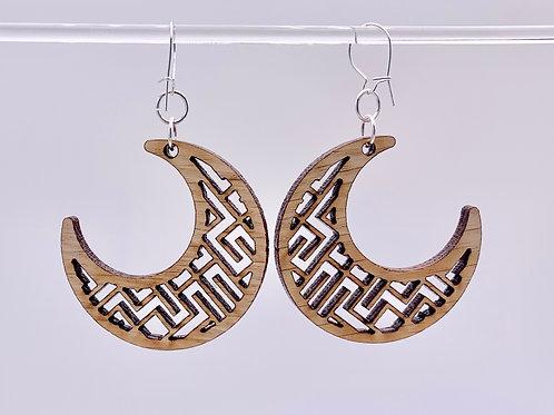 Geometrical Moon Earrings