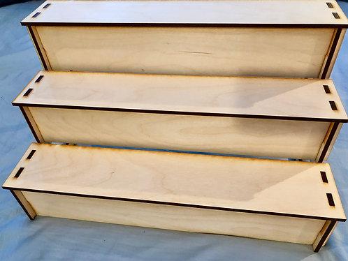 Step Display Shelves