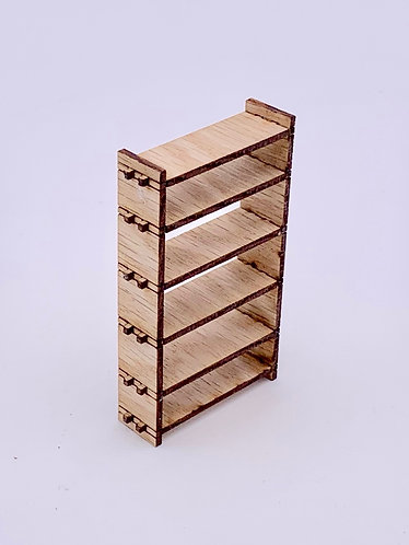 6 Shelf kit 1:12, Oak