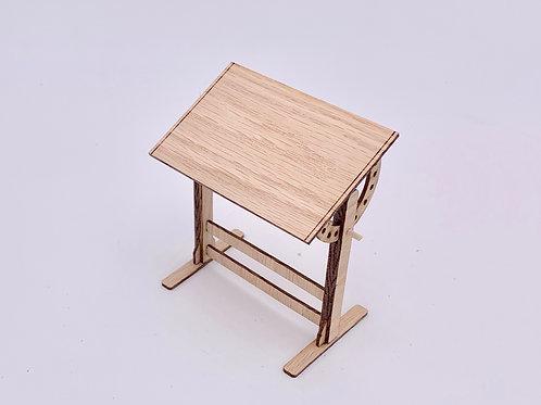 Drafting Table Kit 1:12 Oak