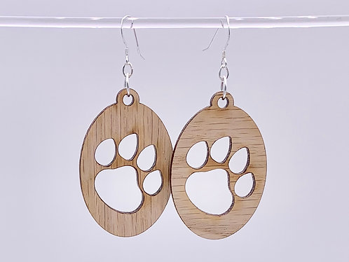 Puppy Paw Print Earring