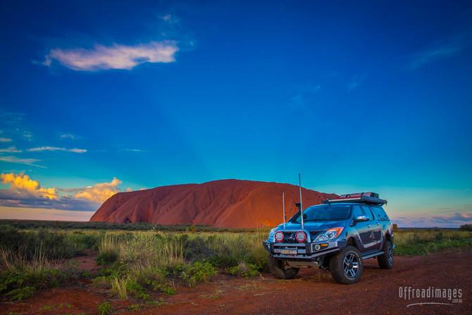 Uluru glows in the outback