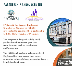 37 Oaks GECC Retail Incubator Partner An