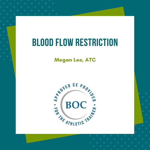 Blood Flow Restriction (2020)