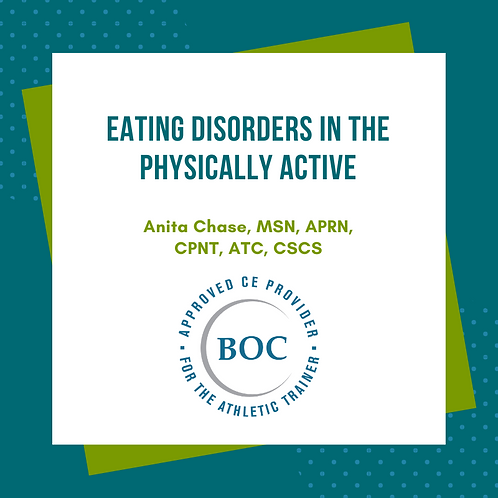 Eating Disorders in the Physically Active (2015)