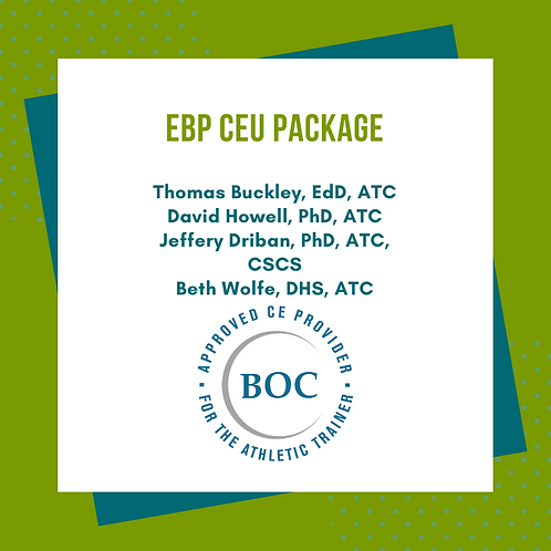EBP Package: Cognitive/Physical Rest, Gait Balance Control. Joint Health, ADHD