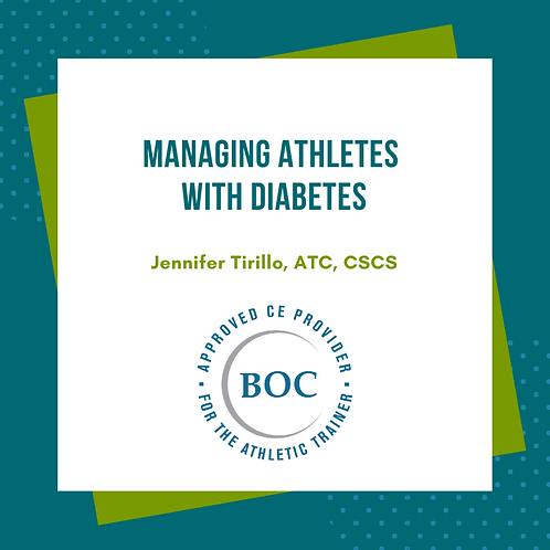 Managing Diabetes in Athletes (2015)