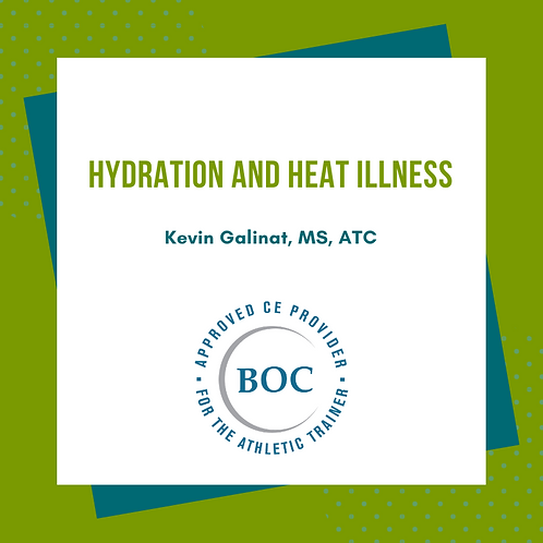 Heat Illness Prevention and Hydration (2019)