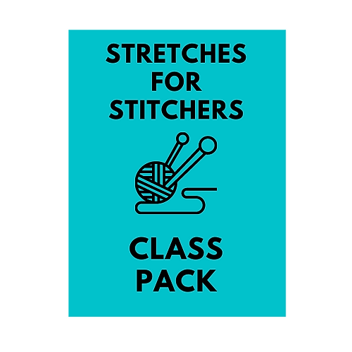 March Fridays 6:30pm Stretches for Stitchers