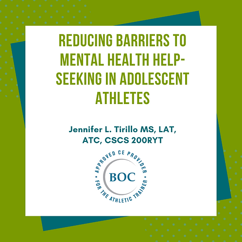 Reducing Barriers to Mental Health Help-Seeking in Adolescent Athletes (2020)