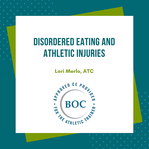 Disordered Eating and Athletic Injuries (2019)