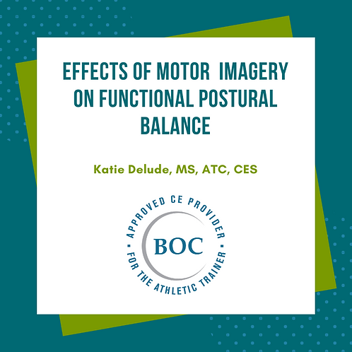 The Effects of Motor Imagery on Functional Postural Balance (2019)