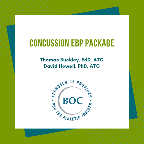 Concussion EBP Package: Cognitive/Physical Rest and Gait Balance Control (2017)