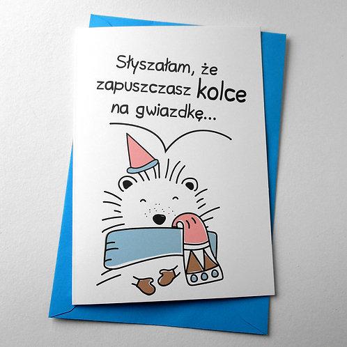 """Kartka świąteczna A5 """"Kolce na gwiazdkę"""""""