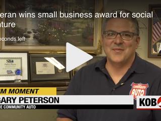 KOB4 News - Veteran Wins Small Business Award for Social Venture