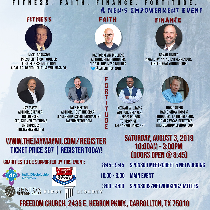 2019 MEN'S THRIVE CONFERENCE - FITNESS. FAITH. FINANCE. FORTITUDE.