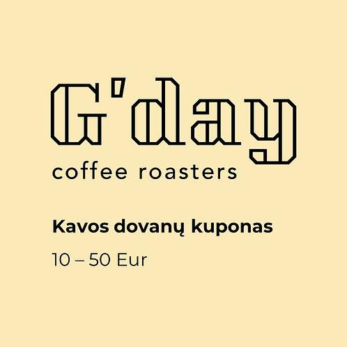 Kavos dovanų kuponas (10-50 Eur)