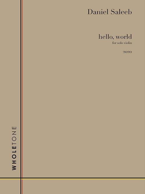 Daniel Saleeb - hello, world (WT 1506)
