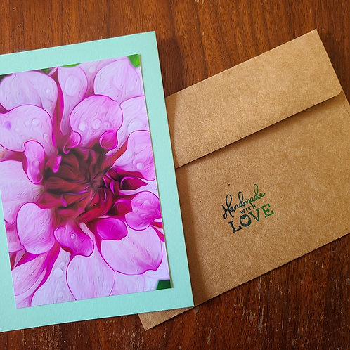Dahlia Single Blank Notecard
