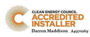 CEC_AccreditedInstaller Darren Maddison.