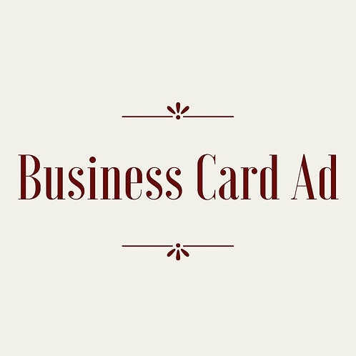 Business Card Journal Ad