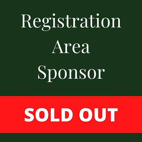SOLD OUT - Registration Area Sponsor