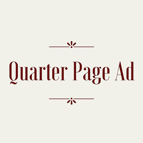 Quarter Page Journal Ad