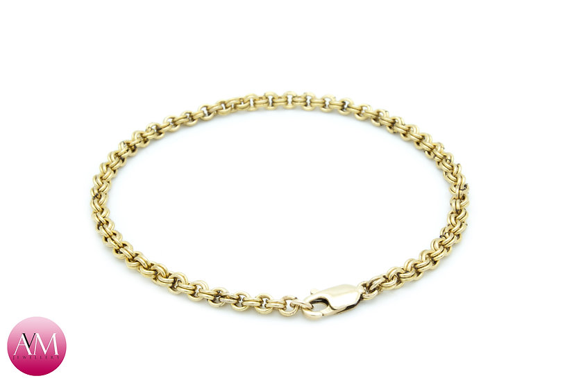 Yellow Gold Fill Micro 2in2 Bracelet