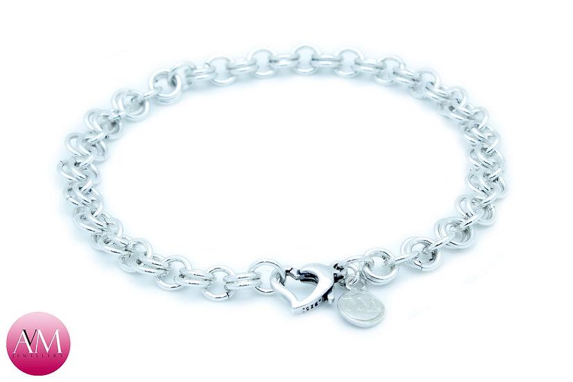 Sterling Silver 2in1 Chain Bracelet