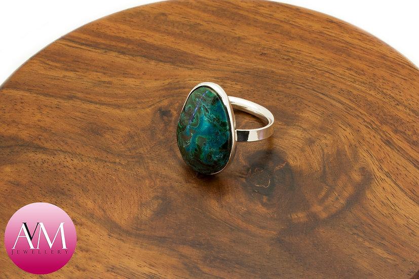 Malachite and Chryscolla Ring