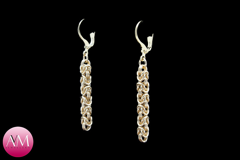 Delicate Byzantine Earrings in Yellow Gold Fill