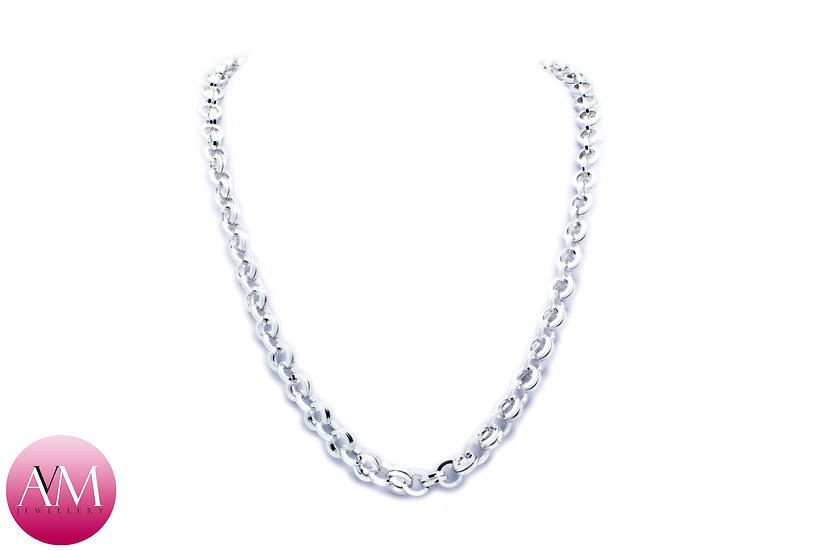 Heavy Sterling Silver 2in1 Chain Necklace in SW