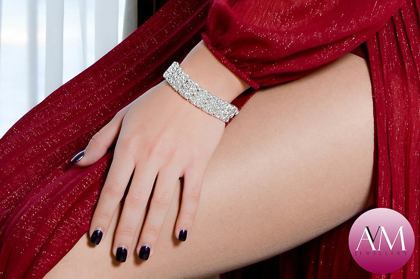 INFATUATION - Triple Sterling Silver Byzantine Bracelet