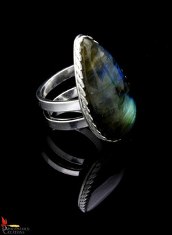 No374d Labradorite Ring