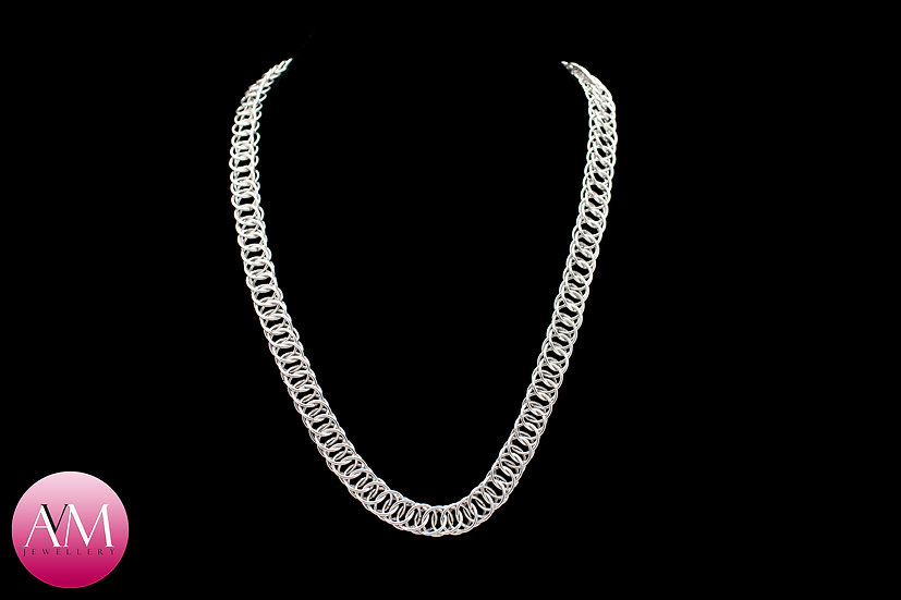 Sterling Silver Half Persian Necklace