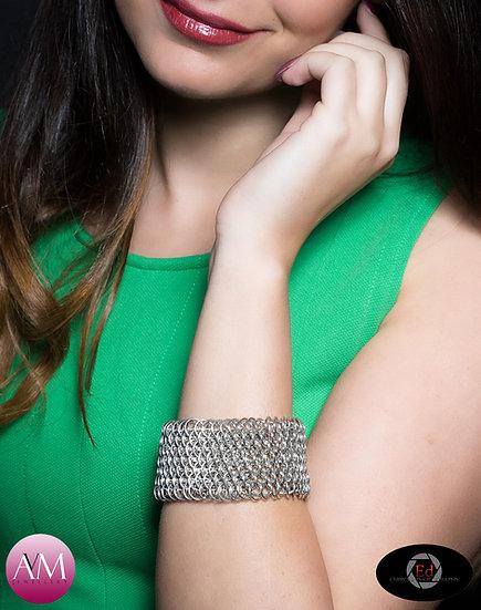 PROVIDENCE - Sterling Silver Dragonscale Weave Bracelet
