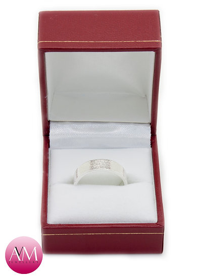 6mm Embossed Sterling Silver Band