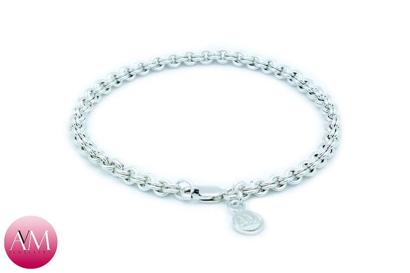 Delicate Sterling Silver 2in2 Chain Bracelet