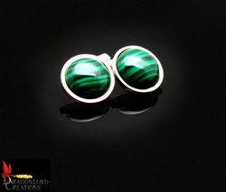SOLD No887 Malachite Cufflinks