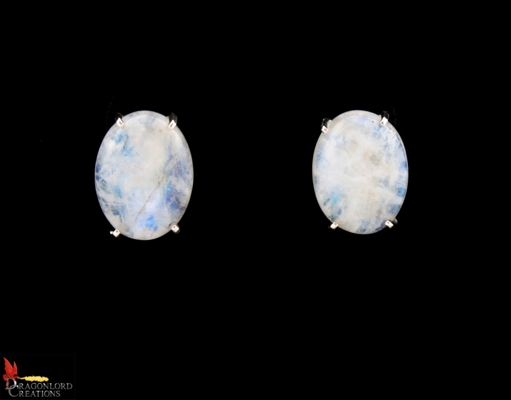 No367 Rainbow Moonstone Earrings 2cm