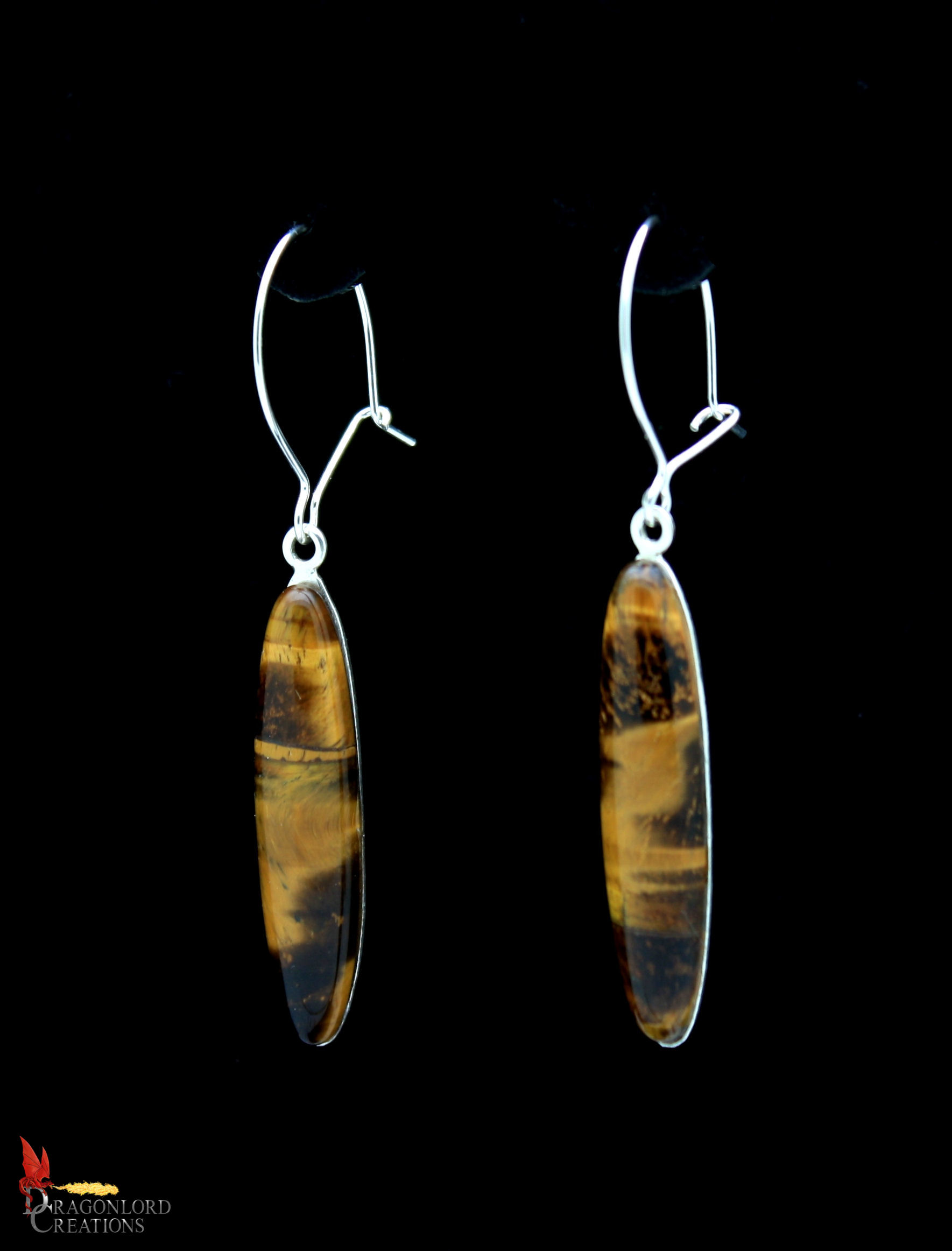No902b Tigers Eye Drop Earrings