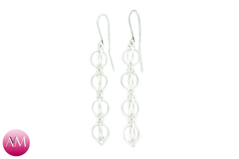 Sterling Silver Quad Orb Earrings